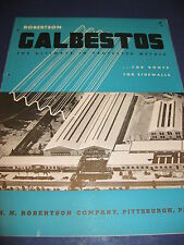 U S NAVY ASBESTOS GALBESTOS Catalog Project Installations  H H Robertson