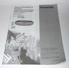 * Panasonic RX-ES25 / RX-ES20 * Original Anleitung, tragbare Stereo-Anlage
