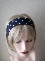 NEW PLAIN BURGUNDY COTTON FABRIC HEAD SCARF HAIR BAND SELF TIE BOW 50s 60s STYLE