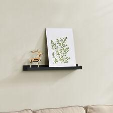 [en.casa]® Wandboard 60cm Wandregal Hängeregal Bücherregal Ablage Board Schwarz