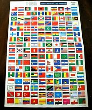 CatalinaStamps: 170 Flags of the World, Full Sheet from 1970's. Lot B11