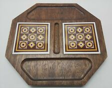 Siena Ware Imperial MCM Geometric Retro Cracker and Cheese Tray Board