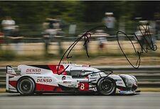 BUEMI, Nakajima, DAVIDSON firmato a mano Toyota Le Mans 2017 foto 12x8 4.