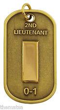 "ARMY 2ND LIEUTENANT  0-1 ENGRAVABLE REGULATION MILITARY  METAL DOG TAG 24"" CHAIN"