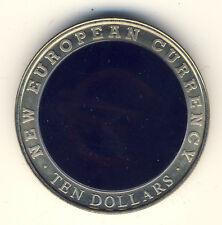 Liberia - 10 dólares 2003-Europ. moneda-holograma (439)