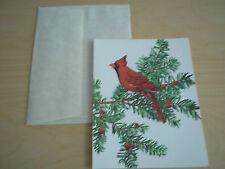 Vintage American Artist Group Christmas Card - Cardinal - Mint