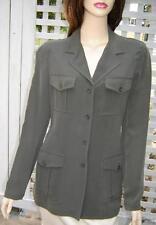 JONES NEW YORK Olive Green/Camouflage Silk Cargo Jacket Blazer (4) NWT $209