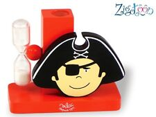 Child Toothbrush holder with sandglass Pirate in wood Vilac Boy decoration - NEW