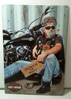 HARLEY DAVIDSON STURGIS OR BUST Tin Panhead Motorcycle Bike Garage Sign Man Cave