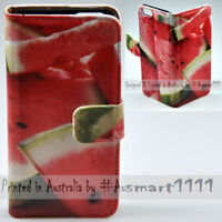 For Samsung Galaxy Note Series - Watermelon Print Wallet Mobile Phone Case Cover
