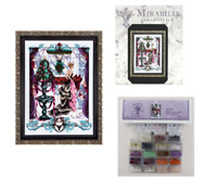 MIRABILIA Cross Stitch PATTERN & EMBELLISHMENT PACK Chrismas in London MD136