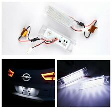 2x LED License Number Plate Light Canbus Vauxhall Opel Corsa C Astra Vectra UK