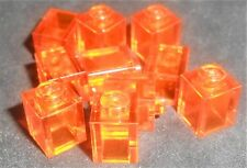LEGO 1x1 Bricks Trans Orange---Lot of 10