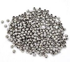 1000 Perle Intercalaire Spacer ronde lisse arg foncé 3mm Apprêts Créa Bijou A420