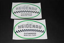 102 Heidenau Pneumatico Pneu Bici Adesivo Decalcomania Autocollant Auto D'epoca