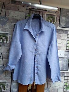 Ladies Linen Shirt Size 14