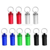 2pcs Waterproof Outdoor Survival Pill Bottle Storage Container Purse Handbag