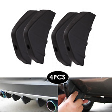 4PCS Car Rear Bumper Diffuser Anti Collision Decor Strip Shark Fin Spoiler Cover