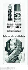 PUBLICITE ADVERTISING 086  1964  Meltonian produit entretien bottes en cuir daim