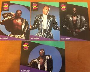 SET OF 4 PROSET SUPER STARS MUSIC CARDS MC HAMMER DIFFERENT CARDS