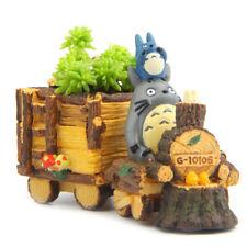 Little Cute Locomotive Totoro Figure Succulent Plant Flower Planter DecoractionQ