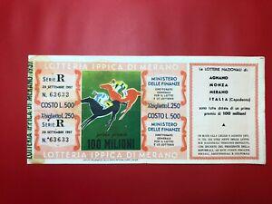 2) Loterie Ri De Merano 1957 L.500 Premio 100 Millions Avec Service