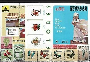 403413 / Ecuador ** MNH LOT FLORA PAPST TIERE