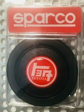 TEQ Toyota Red & White Oldschool Sparcoトヨタ Horn Button may fit other wheels