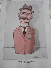 1922 Original Print Le Chancelier de Carton M. Wirth Barrere Vive Musette !!