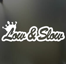 Low and Slow funny car van, bumper, windows, laptop, JDM vinyl decal sticker