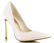 HIGH HEEL WHITE CLASSIC WEDDING SHOES  Size UK 7; Euro 40