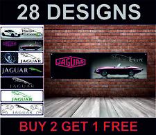 JAGUAR E-TYPE Drapeau pour atelier, garage, Showroom, Man Grotte, V12, Coupé