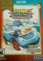 Sonic & All-Stars Racing Transformed Nintendo Selects Wii U Brand New