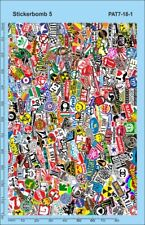 Stickerbomb 7 Decal (140 x 90 mm) Waterslidedecal PAT07-18-1