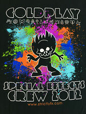 RARE COLDPLAY StrictlyFx Special Effects CREW 2012 Official Concert Tour T SHIRT