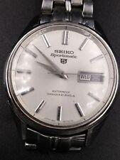 """Mens 37mm  SEIKO SPORTSMATIC 5  21 jewels 6619-8060  SS 8 1/2"""" wrist 1966 vint"""
