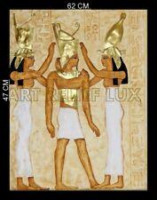 RELIEF GOLDENE PHARAO ÄGYPTISCHES RELIEFS ÄGYPTEN SKULPTUR WANDRELIEF BILD ANTIK
