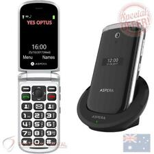 Genuine Aspera F28 3G Flip Seniors Phone - Black (Australian Stock) New