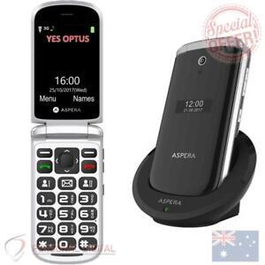 Genuine Aspera F28 3G Flip Seniors Phone BIG button (Australian Stock) UNLOCKED
