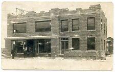 RPPC NY Croghan Marrilleys Store Being Rebuilt Stone Crane (Henry Beach Photo)
