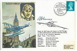 GB 1976 Victor Mk1 Flown Sir Alan Cobham Pilot Signed.BFPS Pictorial SHS