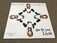 "RARE ORIGINAL MAXI VINYL 45T 12"" MYLENE FARMER QUE MON COEUR LACHE (1992)"