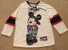 H&M moschino mesh top sweatshirt Disney Scott mickey s small limited unisex