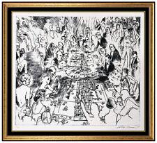 LeRoy Neiman Original Etching Hand Signed Stud Poker Casino Gambling Eaux Fortes