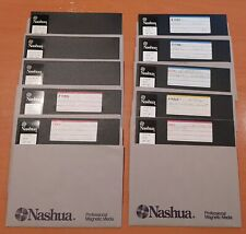 """10 x NASHUA  8 Inch Double Sided Double Density 8"""" Floppy Disk DS DD  2S 2D"""
