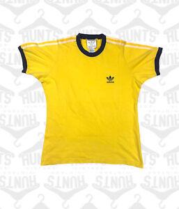 Navy/Yellow Adidas T Shirt   Medium
