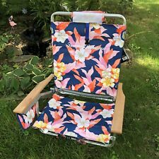 Tommy Bahama Backpack Beach Chair Hibiscus Hawaiian Floral Built In Cooler Nwt