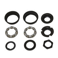 NEW! Bottom Bracket Set w/Bearings FOR 1/Piece Crank 5/16x7 Bike Bicycle Black