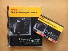 Original Kodak Dcs 500 Series Digital Camera User's Guide w/Quick Setup; Ex! 520