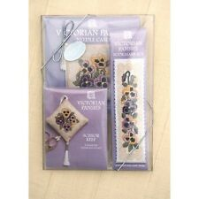 Victorian Lavender Counted Cross Stitch Kits Gift Set by Textile Heritage